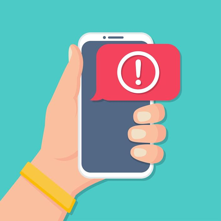 """<span class=""""caption"""">You just got another – yes, another – political text message.</span> <span class=""""attribution""""><a class=""""link rapid-noclick-resp"""" href=""""https://www.gettyimages.com/detail/illustration/hand-holding-smartphone-with-alert-message-royalty-free-illustration/1255978050"""" rel=""""nofollow noopener"""" target=""""_blank"""" data-ylk=""""slk:goodvector/iStock via Getty Images"""">goodvector/iStock via Getty Images</a></span>"""