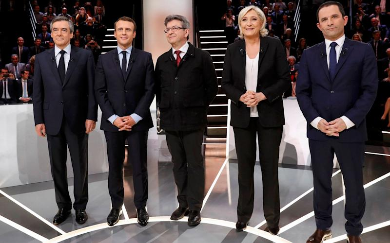 The top five French presidential candidates - REUTERS