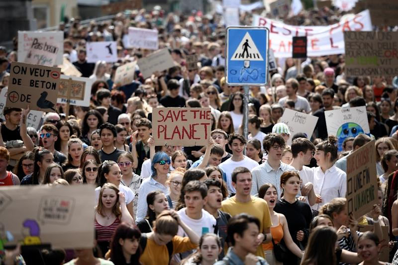 There have been worldwide protests against fossil fuels, one of the principal sources of greenhouse gas emissions (AFP Photo/Fabrice COFFRINI)