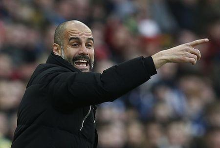 Britain Soccer Football - Sunderland v Manchester City - Premier League - Stadium of Light - 5/3/17 Manchester City manager Pep Guardiola Reuters / Andrew Yates