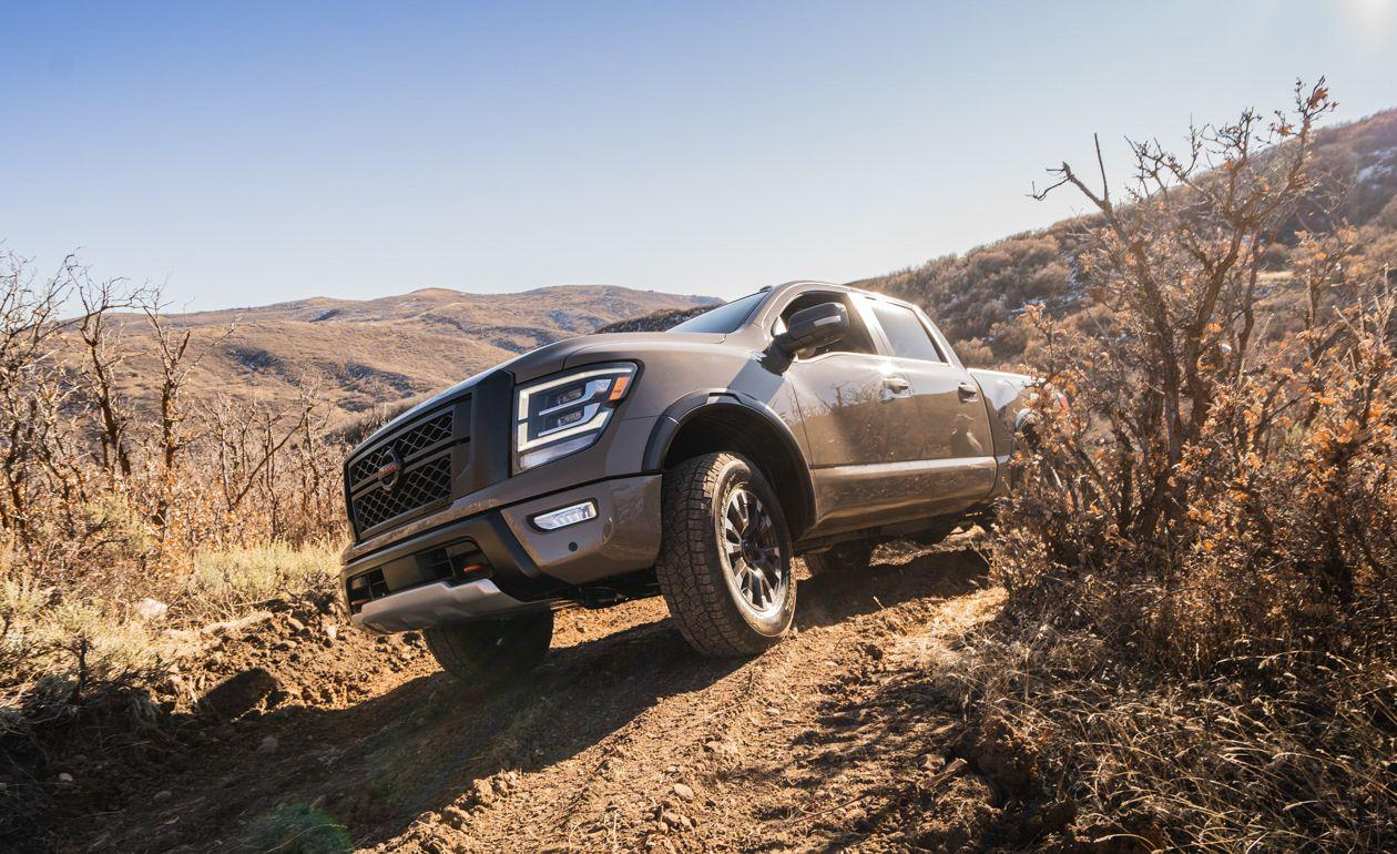 <p>The sole engine choice for the 2020 Titan is its familiar 5.6-liter V-8. Small improvements have upped its output to 400 horsepower and 413 lb-ft of torque, increases of 10 and 19, respectively.</p>