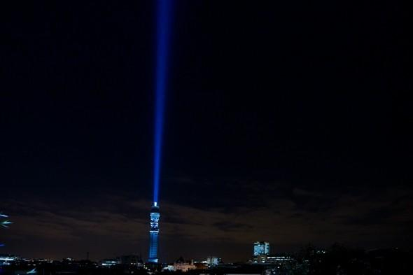 May the Force be with you: Britain's BT Tower turned into world's biggest lightsaber