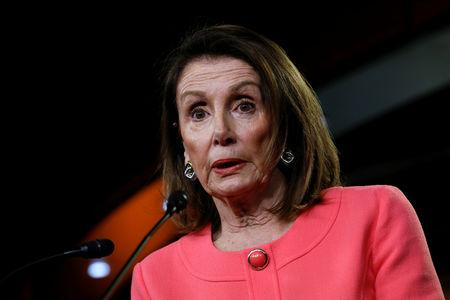 FILE PHOTO - House Speaker Nancy Pelosi holds a weekly news conference on Capitol Hill in Washington