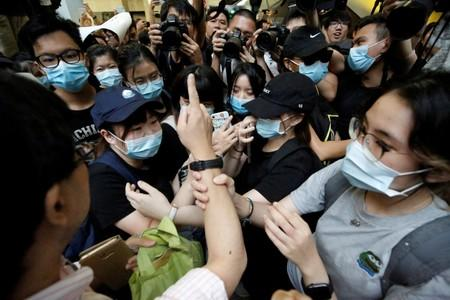 Anti-extradition bill protesters occupy the Revenue Tower in Hong Kong