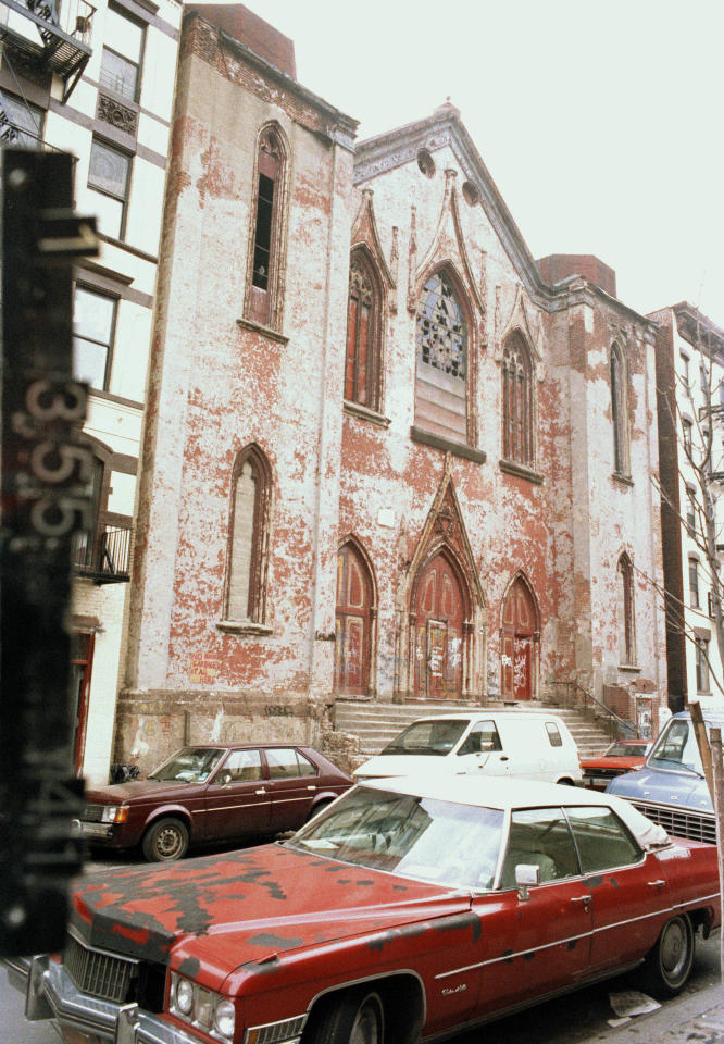 This circa 1983-1988 photo provided by the New York City Municipal Archives shows 172 Norfolk Street, which is now the Angel Orensanz Foundation, in New York. Over 800,000 color photographs were taken with 35-mm cameras for tax purposes. Every New York City building in the mid-1980s can be viewed in this collection. Over 870,000 photos from an archive that exceeds 2.2 million images have been scanned and made available online, for the first time giving a global audience a view of a rich collection that documents life in New York City. (AP Photo/New York City Municipal Archives)
