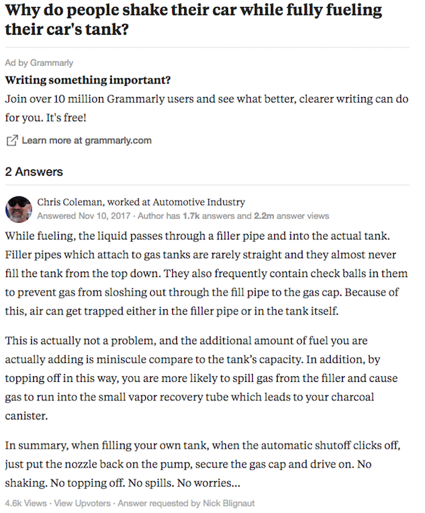 Photo: Quora screengrab