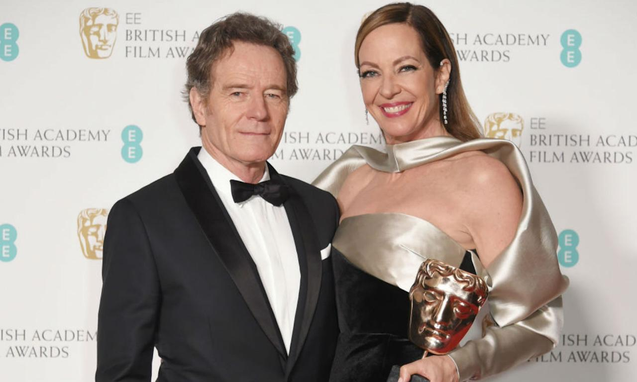 <p>Bryan Cranston (L) and Allison Janney, winner of the Best Supporting Actress award for 'I, Tonya'. </p>