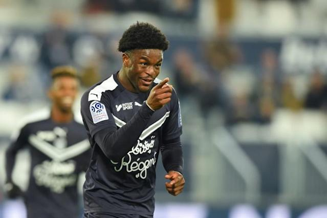 Josh Maja netted a hat-trick in midweek and has four goals in his last two games for Bordeaux (AFP Photo/NICOLAS TUCAT)