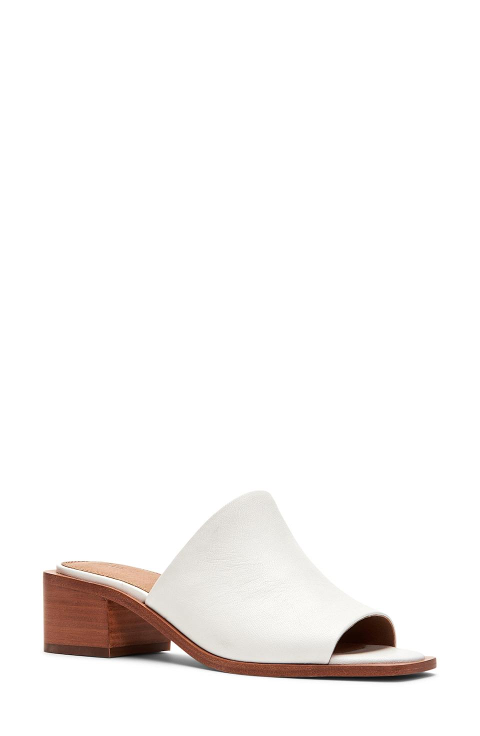 """<p><strong>Frye</strong></p><p>nordstrom.com</p><p><strong>$198.00</strong></p><p><a href=""""https://go.redirectingat.com?id=74968X1596630&url=https%3A%2F%2Fwww.nordstrom.com%2Fs%2Ffrye-lucia-slide-sandal-women%2F6016491&sref=https%3A%2F%2Fwww.townandcountrymag.com%2Fstyle%2Ffashion-trends%2Fg36384322%2Fbest-sandals-for-women%2F"""" rel=""""nofollow noopener"""" target=""""_blank"""" data-ylk=""""slk:Shop Now"""" class=""""link rapid-noclick-resp"""">Shop Now</a></p><p>Minimalists will love this demure, do it all shoe. Its 1.75 heel is just high enough to add a dressy touch while staying comfy enough for all-day wear. </p>"""