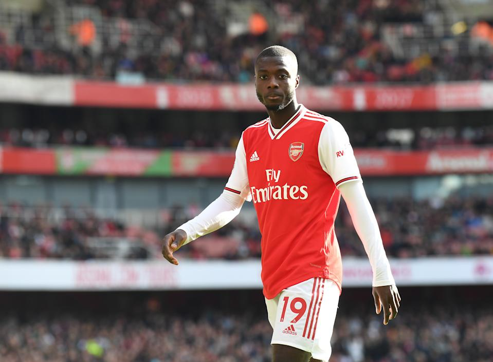 Nicolas Pepe hasn't had the smoothest of starts to life in north London. (Photo by David Price/Arsenal FC via Getty Images)