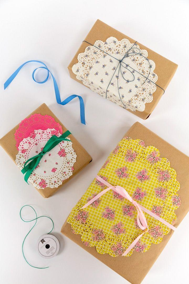 """<p>Doilies aren't just for Valentine's. The lace-like paper comes in a variety of shades and patterns to make quick work of crafting unique wrapping paper. </p><p>Get the tutorial at <a href=""""https://www.aliceandlois.com/paper-doily-craft-ideas/"""" rel=""""nofollow noopener"""" target=""""_blank"""" data-ylk=""""slk:Alice and Lois"""" class=""""link rapid-noclick-resp"""">Alice and Lois</a>. </p><p><a class=""""link rapid-noclick-resp"""" href=""""https://www.amazon.com/Mini-Round-Paper-Doilies-Colors/dp/B07Y45D1G9?tag=syn-yahoo-20&ascsubtag=%5Bartid%7C10072.g.34015639%5Bsrc%7Cyahoo-us"""" rel=""""nofollow noopener"""" target=""""_blank"""" data-ylk=""""slk:SHOP DOILIES"""">SHOP DOILIES</a></p>"""