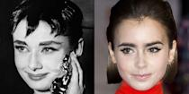 <p>Both Audrey Hepburn and Lily Collins have the acting chops to back up their beauty. The two actresses also share many of the same petite facial features. </p>