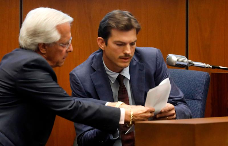 Ashton Kutcher testifying. (Photo: GENARO MOLINA/AFP/Getty Images)
