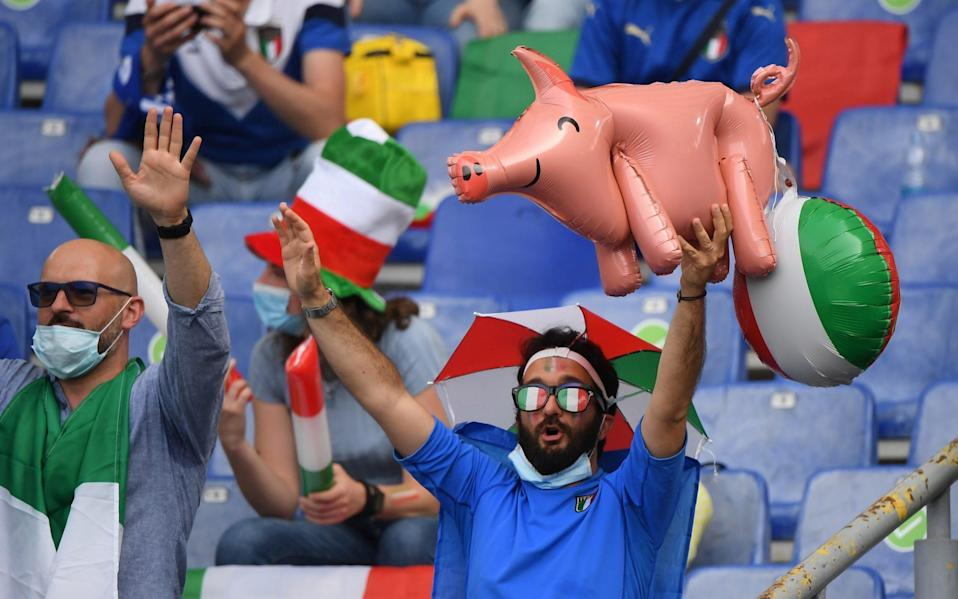 An inflatable pig - Reuters