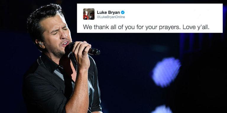 Following The Death Of His Baby Niece Luke Bryan Thanks