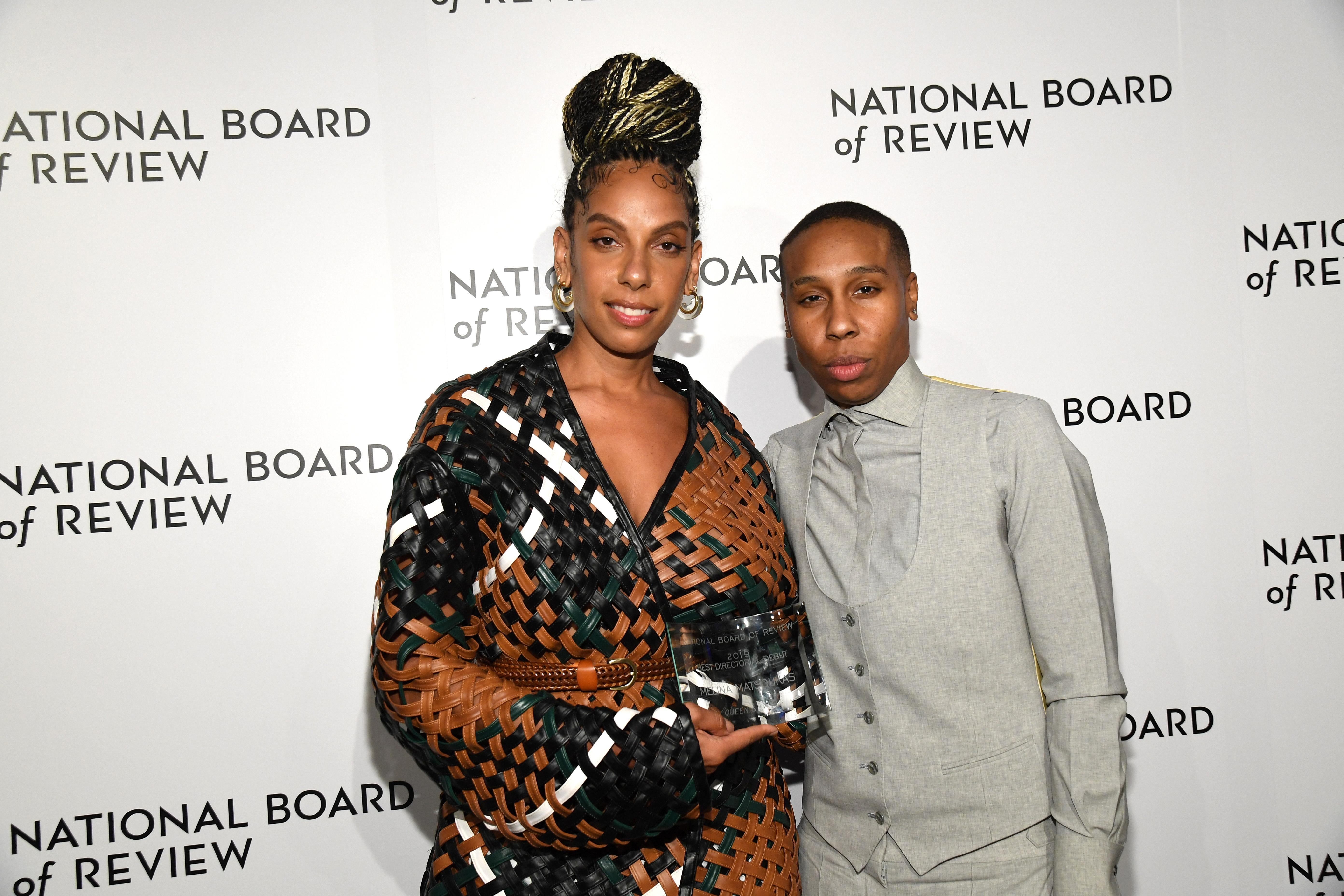 Melina Matsoukas and Lena Waithe attend The National Board of Review Annual Awards Gala on January 8, 2020. (Photo by Kevin Mazur/Getty Images for National Board of Review)