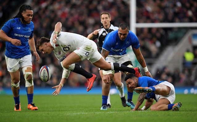 Rugby Union - Autumn Internationals - England vs Samoa - Twickenham Stadium, London, Britain - November 25, 2017 England's Henry Slade in action REUTERS/Toby Melville
