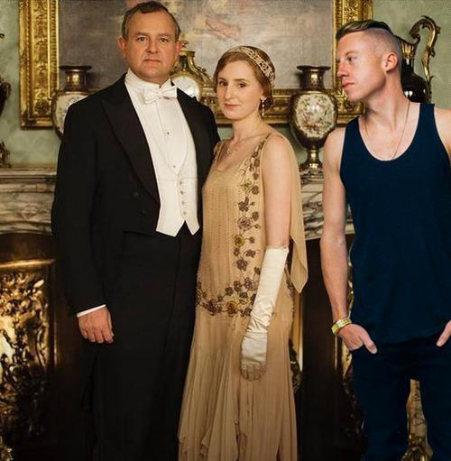 Downton Abbey promotional photo with Macklemore