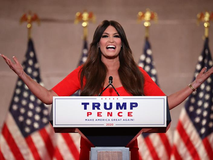 Kimberly Guilfoyle at the virtual Republican National Convention on August 24.