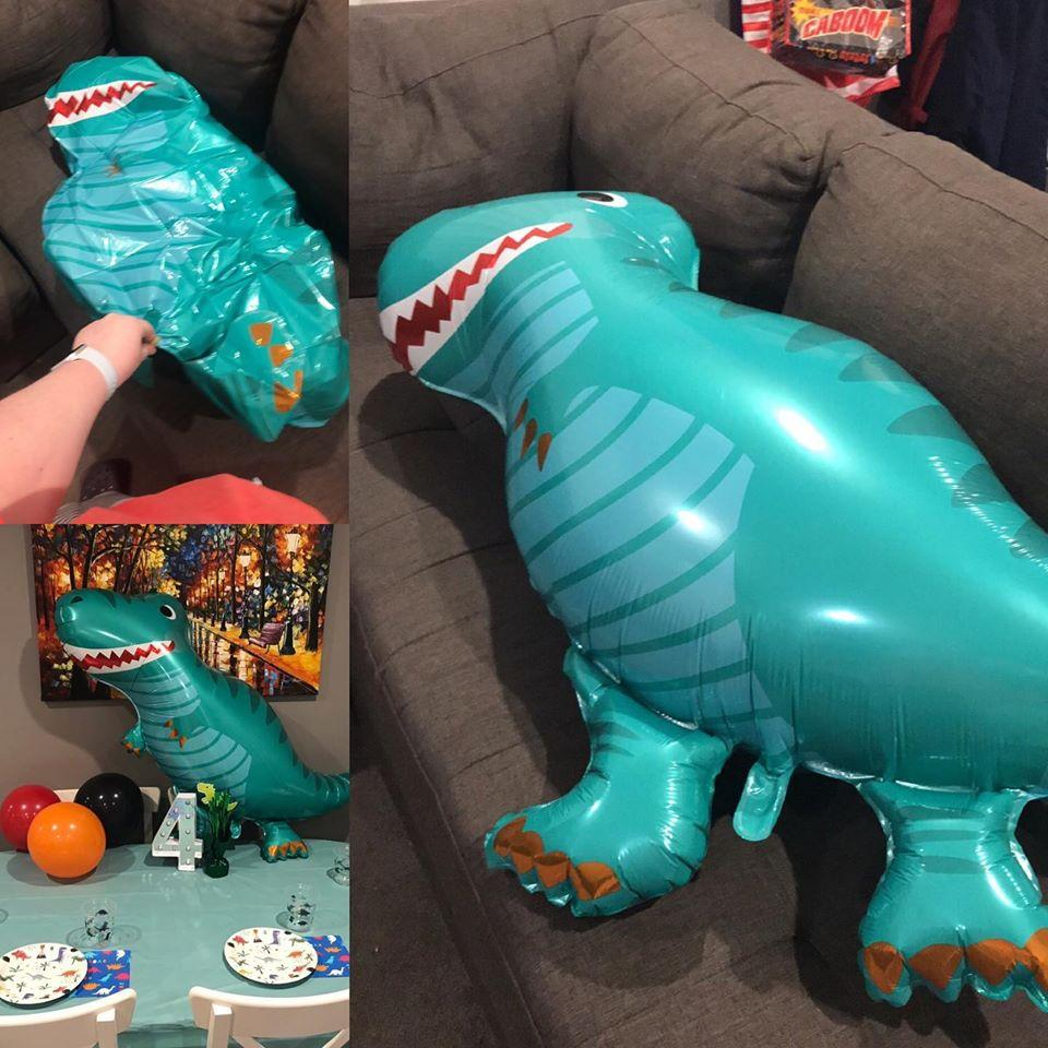 A mum has shared her 'dirty' X-rated discovery on a Kmart party decoration. Photo: Facebook/mumswho.
