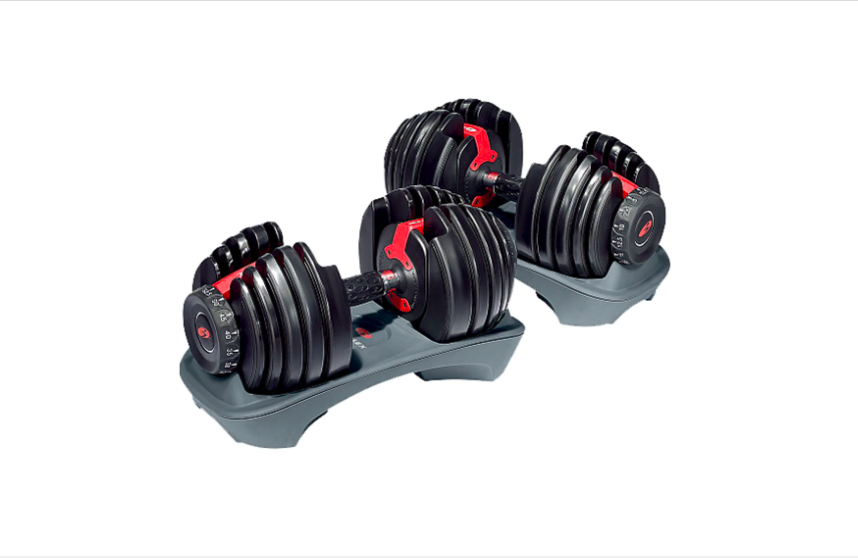 """<p><strong>Bowflex</strong></p><p><strong>$329.00</strong></p><p><a href=""""https://go.redirectingat.com?id=74968X1596630&url=https%3A%2F%2Fwww.bowflex.com%2Fselecttech%2F552%2F100131.html&sref=https%3A%2F%2Fwww.womenshealthmag.com%2Ffitness%2Fg29367992%2Fbest-dumbbells%2F"""" rel=""""nofollow noopener"""" target=""""_blank"""" data-ylk=""""slk:Shop Now"""" class=""""link rapid-noclick-resp"""">Shop Now</a></p><p>This one is a classic fan favorite and quickly fluctuates between being in and out of stock (and for good reason!). The Bowflex Selecttech can go from 5 to 52.5 pounds in a matter of seconds with a simple dial turn. Plus, it's compatible with the Bowflex SelectTech® training app where you can track your weight, reps, and sets while watching workout videos and coaching sessions.</p><p><strong>Reviewer Rave:</strong> """"LOVE LOVE LOVE these dumbbells!!! Oh My !! I have waited for a year, then Amazon had a coupon and that was it! I live in a small trailer, perfect for small areas. Super smooth, comfort grip, can't say enough good. I am 61 yrs female, been lifting for +40 years and these are one of the best investments I have made.""""<em>— Cindy M., <a href=""""https://www.amazon.com/gp/customer-reviews/R3F4XE1I5APKR6/ref=cm_cr_getr_d_rvw_ttl?ie=UTF8&ASIN=B001ARYU58"""" rel=""""nofollow noopener"""" target=""""_blank"""" data-ylk=""""slk:amazon.com."""" class=""""link rapid-noclick-resp"""">amazon.com.</a></em></p>"""