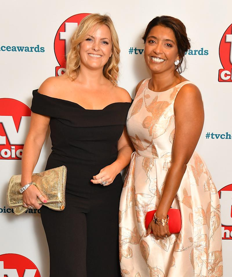 LONDON, ENGLAND - SEPTEMBER 10: Jo Joyner and Sunetra Sarker attend the TV Choice Awards at The Dorchester on September 10, 2018 in London, England. (Photo by Jeff Spicer/Getty Images)
