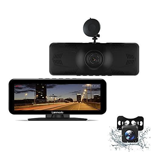 LANMODO Vast Pro Dash Cam Front and Rear, Full Color Super Night Vision up to 984ft, Dual 1080P…