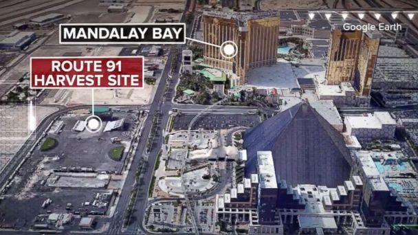 PHOTO:Las Vegas strip shooting after a gunman opens fire near Mandalay Bay casino, Oct 1, 2017. (ABC News)