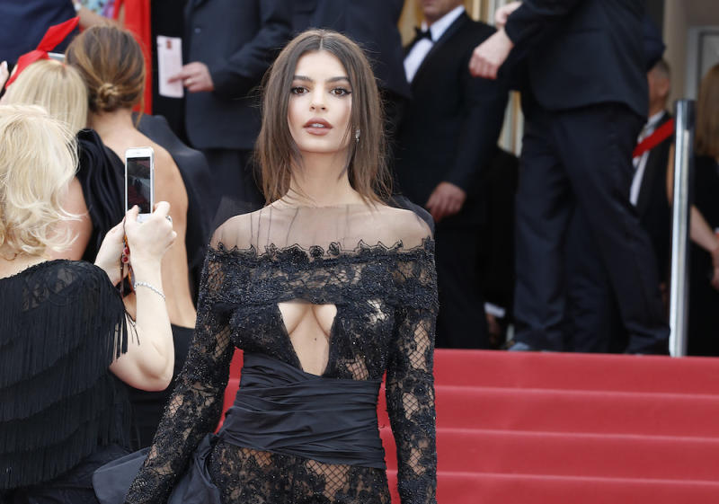 Emily Ratajkowski's lace jumpsuit at Cannes is a Cinderella goth dream