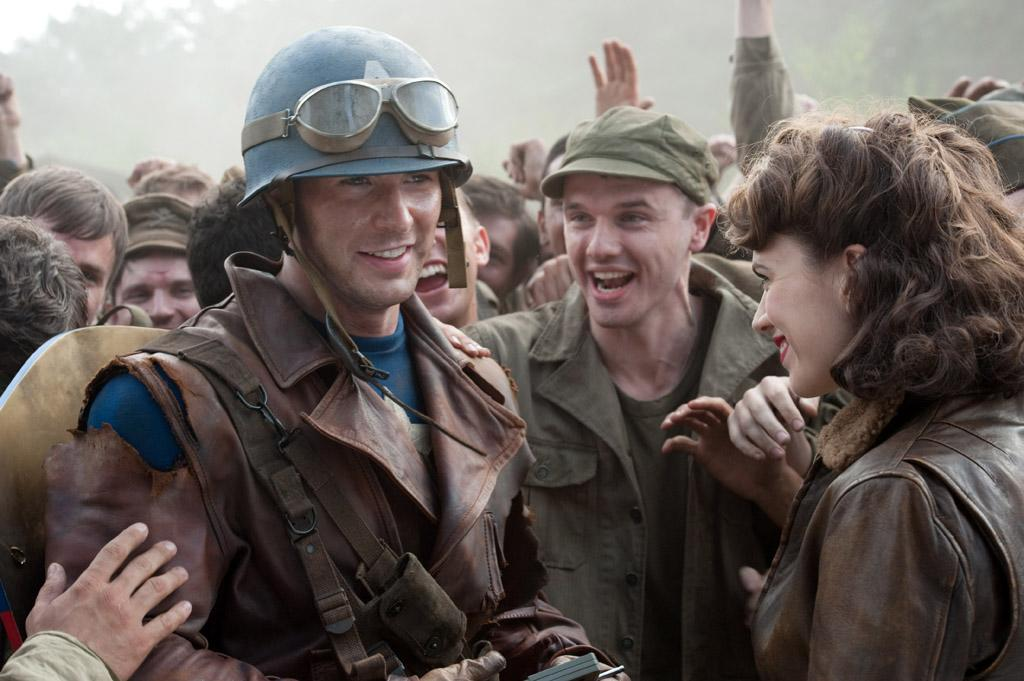 """<a href=""""http://movies.yahoo.com/movie/1810026349/info"""">CAPTAIN AMERICA: THE FIRST AVENGER</a>  Release Date: July 22, 2011  Starring: <a href=""""http://movies.yahoo.com/movie/contributor/1803006988"""">Chris Evans</a>, <a href=""""http://movies.yahoo.com/movie/contributor/1809735942"""">Hayley Atwell</a> and <a href=""""http://movies.yahoo.com/movie/contributor/1800018848"""">Samuel L. Jackson</a>"""