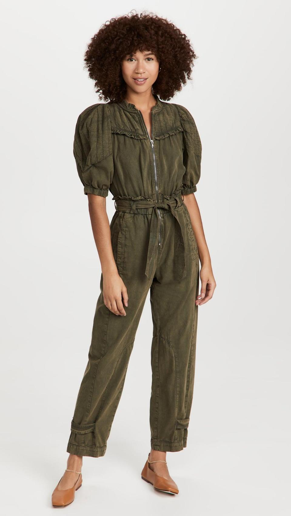 <p>This <span>Sea Layla Quilted Sleeve Jumpsuit</span> ($495) is something you can throw on and go pretty much anywhere. We're so into the tie belt and puff sleeves.</p>