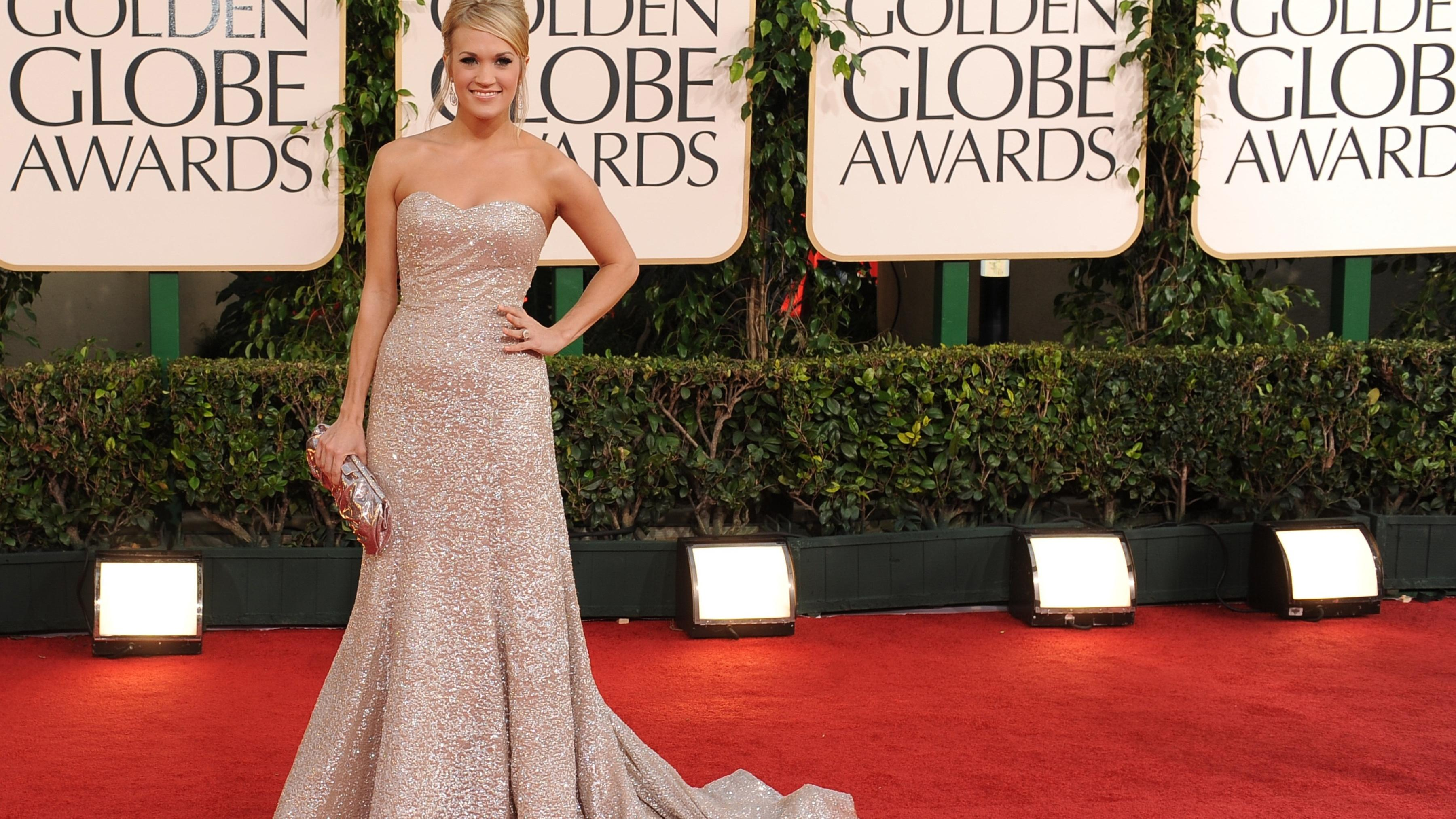 Carrie Underwood arrives at the Golden Globe awards on January 16, 2011. (Photo by Robyn Beck/AFP/Getty Images)