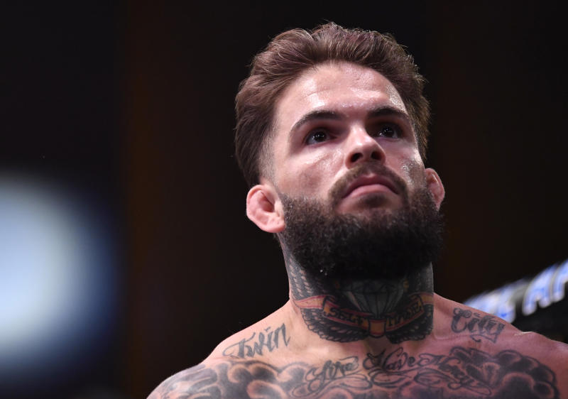 LAS VEGAS, NEVADA - JUNE 06: Cody Garbrandt prepares to fight Raphael Assuncao in their bantamweight bout during the UFC 250 event at UFC APEX on June 06, 2020 in Las Vegas, Nevada. (Photo by Jeff Bottari/Zuffa LLC)