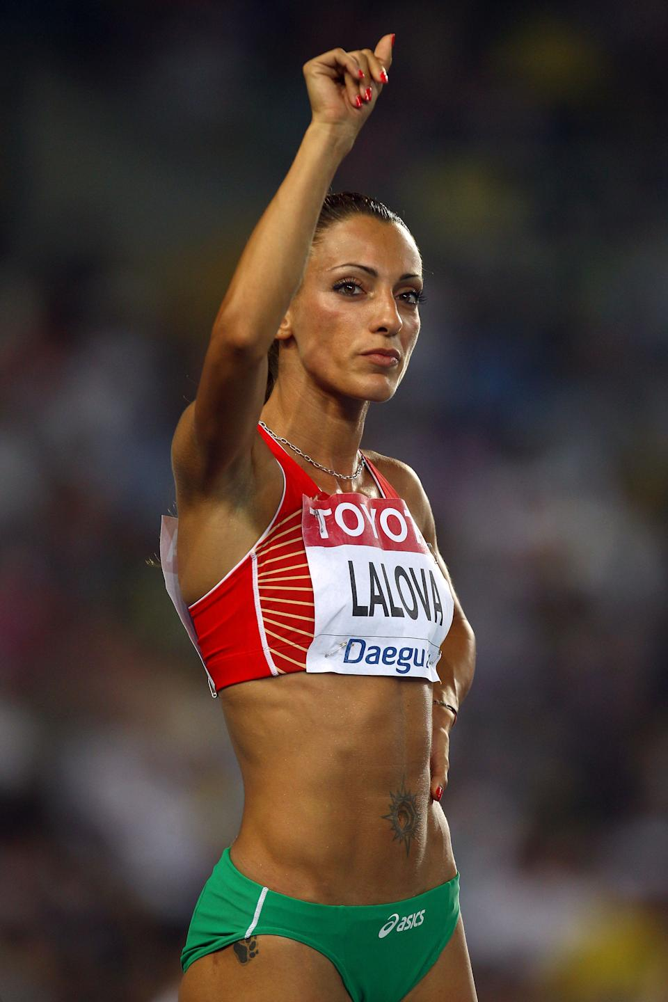 Ivet Lalova of Bulgaria has recently been named the new Olympic crush of the London Games. The 28-year-old has made a name for herself as a phenom on the track. (Alexander Hassenstein/Bongarts/Getty Images)
