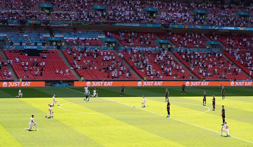 Wembley stadium just before kick off for England's Euro 2020 opener on Sunday (PA Wire)