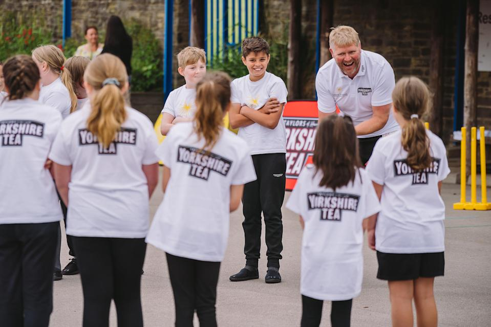 Matthew Hoggard helped out at the launch of National Cricket Week.