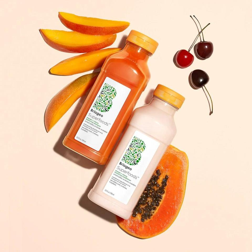 <p>If you have an oily scalp, try out the <span>Briogeo Superfoods Mango + Cherry Balancing Shampoo + Conditioner Duo for Oil Control</span> ($49).</p>
