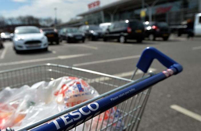 Tesco is the world's third-biggest supermarket group after France's Carrefour and global leader, US retailer Wal-Mart (AFP Photo/Paul Ellis)