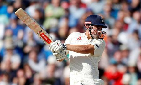 Cricket - England vs West Indies - First Test - Birmingham, Britain - August 18, 2017 England's Alastair Cook in action Action Images via Reuters/Paul Childs