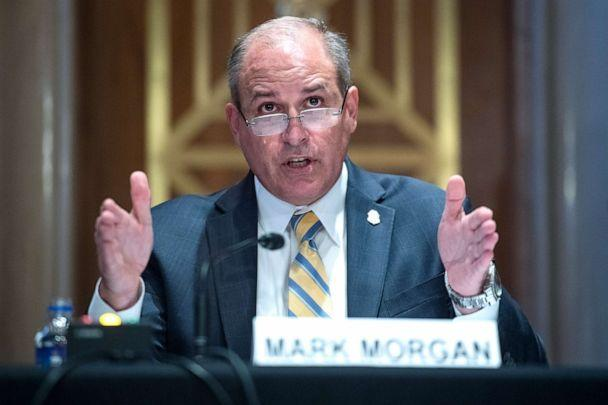 PHOTO: Mark Morgan, acting commissioner of the Customs and Border Protection, testifies during the Senate Homeland Security and Governmental Affairs Committee hearing, June 25, 2020. (Tom Williams/Pool/Getty Images)