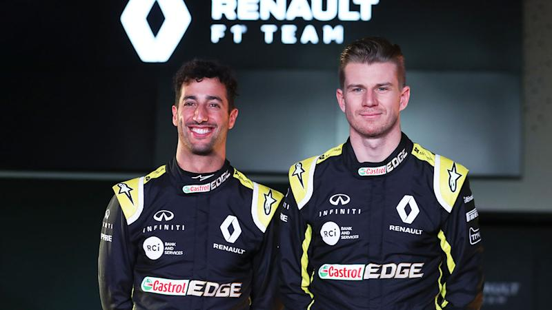 Pictured here, Daniel Ricciardo and Nico Hulkenberg were teammates at Renault in 2019.