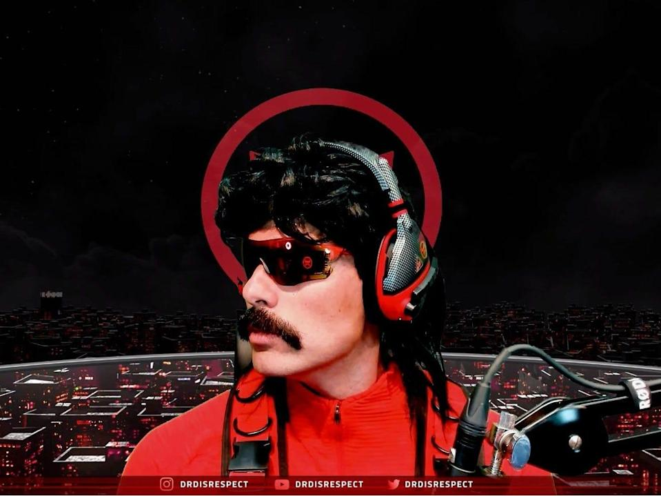 Dr Disrespect is a popular Twitch streamer.