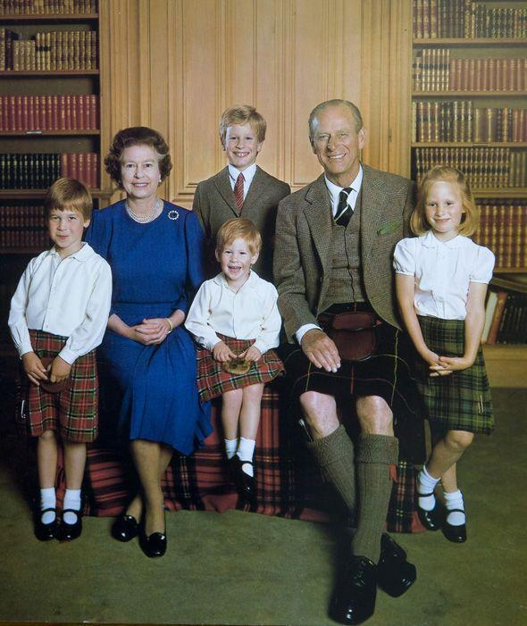 "<p>That same year, Queen Elizabeth II and Prince Philip posed with their four grandchildren: Prince William, Prince Harry, Peter Phillips, and <strong><a href=""https://www.goodhousekeeping.com/life/a20685936/zara-phillips-full-name/"" rel=""nofollow noopener"" target=""_blank"" data-ylk=""slk:Zara Phillips"" class=""link rapid-noclick-resp"">Zara Phillips</a></strong>.</p><p><strong>RELATED:</strong> <a href=""https://www.goodhousekeeping.com/life/a20685936/zara-phillips-full-name/"" rel=""nofollow noopener"" target=""_blank"" data-ylk=""slk:Zara Phillips Wasn't Actually Named by Her Parents, Princess Anne and Mark Phillips"" class=""link rapid-noclick-resp"">Zara Phillips Wasn't Actually Named by Her Parents, Princess Anne and Mark Phillips</a></p>"