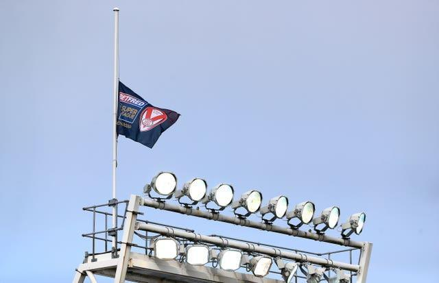 A flag was also flown flying at half-mast at the Totally Wicked Stadium