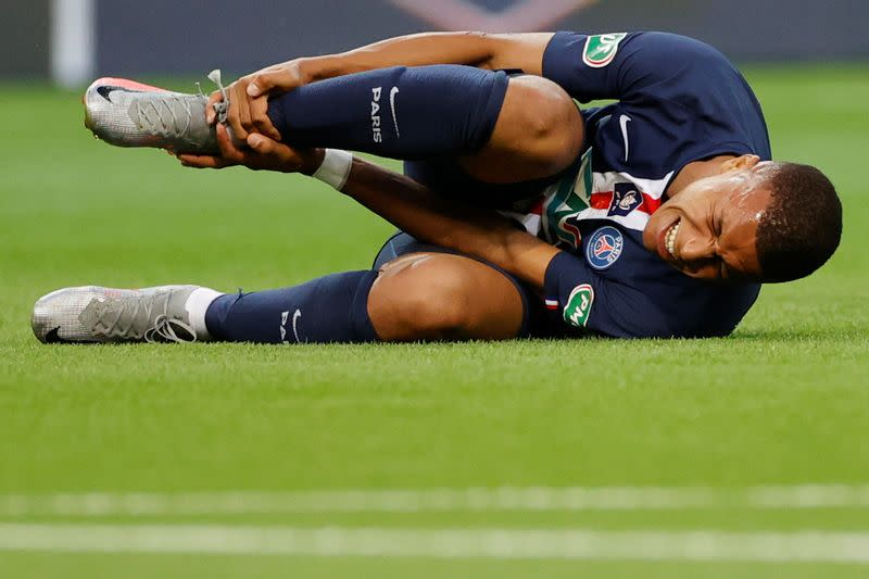 PSG's Mbappe to miss Champions League quarter-final due to ankle injury