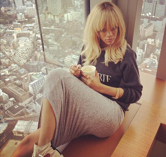 Celebrity photos: Rihanna is jetting around the world on her promotional trail for new movie, Battleship. She tweeted this image from Japan, of the view from her hotel suite's window. Stunning.