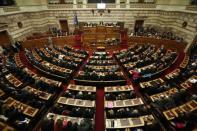 A general view is seen of the Greek parliament during the first of three rounds of a presidential vote in Athens December 17, 2014. REUTERS/Alkis Konstantinidis