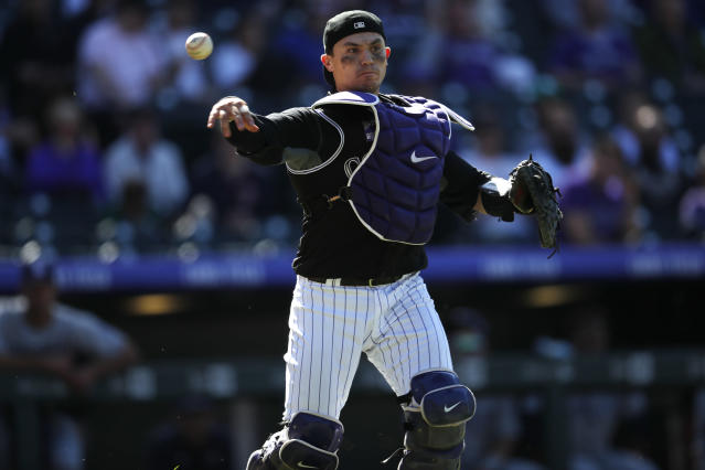 Tony Wolters found himself dashing to first base with two out in the bottom of the ninth inning and in the wake of Matt Kemp. (AP)