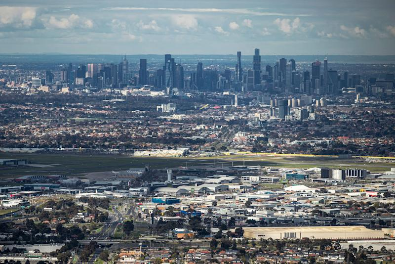An aerial view of Melbourne CBD. Source: Getty