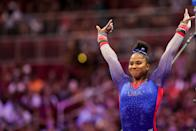 <p>Chiles is 20 years old and was born in Oregon, she grew up in Vancouver, Washington but later moved to Spring, Texas to train in gymnastics. (Photo by Carmen Mandato/Getty Images)</p>